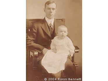 Grandpa and Mom 1916
