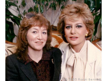 Ronni and Barbara Walters 1981